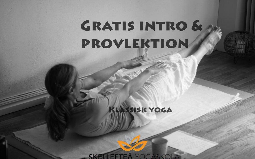 Gratis intro & provlektion
