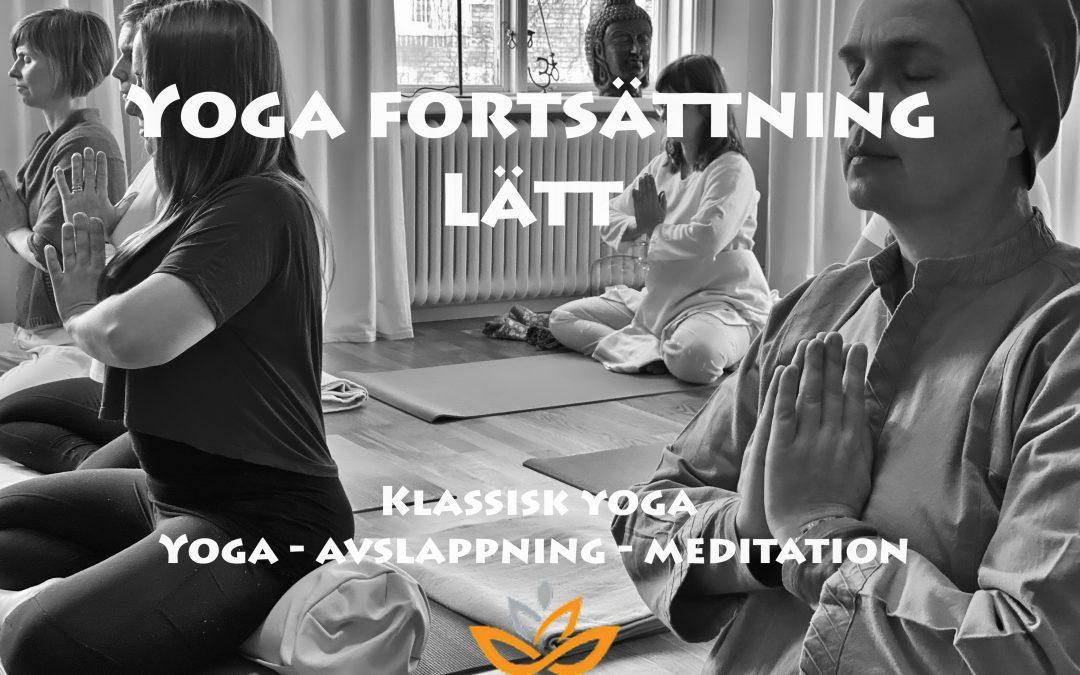 Kurstart måndag 25 januari – Klassisk yoga