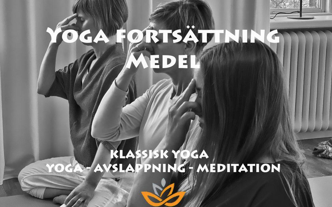 Yoga fortsättning medel – Tisdagar kl.17.45 – 19.45