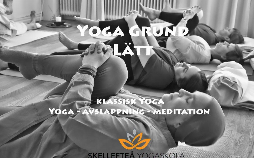 Yoga grund lätt – Onsdagar kl. 16.30 – 18.00