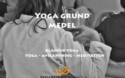 Yoga grund medel – Onsdagar kl.18.30 – 20.15