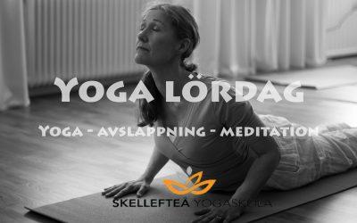Yoga lördag (grundnivå), kl. 10.30 – 12.15